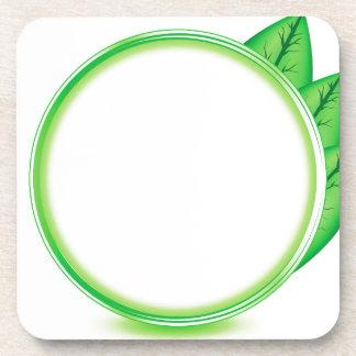 68Green Logo_rasterized Coaster
