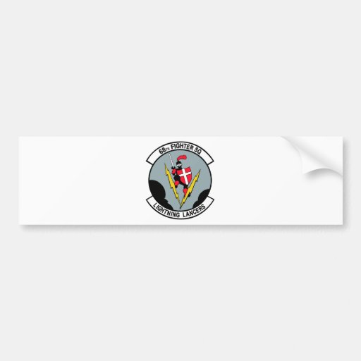 68th Fighter Squadron Lighting Lancers Bumper Stickers