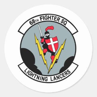 68th Fighter Squadron Lighting Lancers Round Sticker
