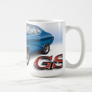69 Buick GS in Blue Coffee Mug