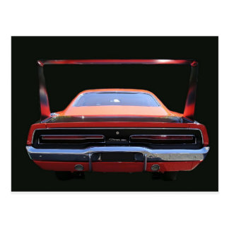 69 CHARGER REAREND POSTCARD