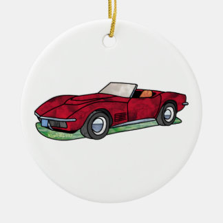 69 Corvette Sting Ray Roadster Ceramic Ornament