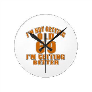69 I Am Getting Better Wall Clocks