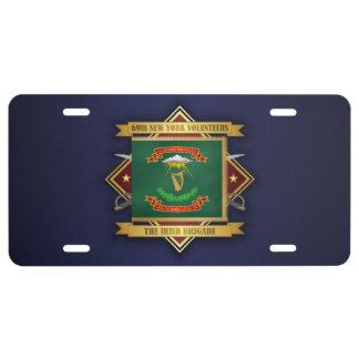 69th New York Volunteer Infantry License Plate