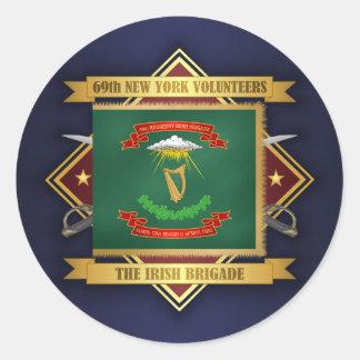 69th New York Volunteer Infantry Round Sticker