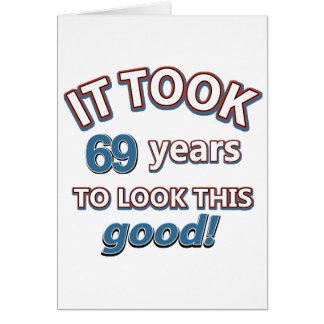 69th year birthday designs card