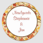 """6 - 3"""" Favour Stickers Autumn Branch Leaves"""