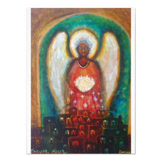 6.5 x 8.75 angel painting card
