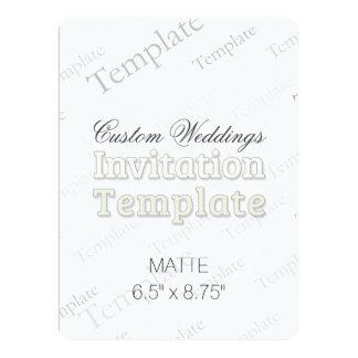 "6.5"" x 8.75"" Matte Custom Wedding Invitation Round"