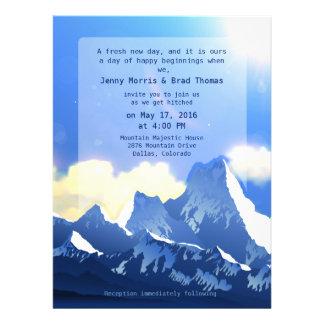 6 5 x 8 75 Mountain Majestic Wedding Invitation