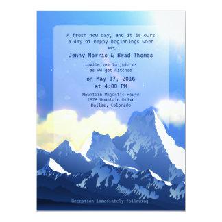 "6.5 x 8.75"" Mountain Majestic Wedding Invitation 6.5"" X 8.75"" Invitation Card"