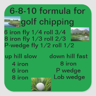6-8-10 golf chipping formula sticker