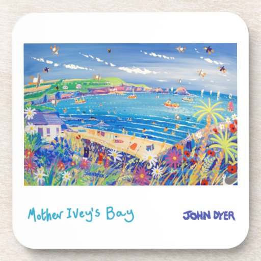 6 Art Coasters: Mother Ivey's Bay Cornwall