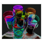 6 Coloured Cocktail Shot Glasses -Style 17 Poster
