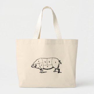 6 Degrees of  Bacon Large Tote Bag