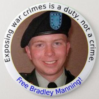6 inch Free BradleyManning button