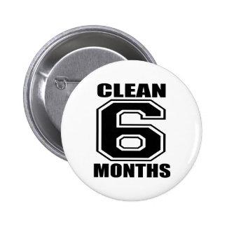 6 mois nettoient le noir macaron rond 5 cm