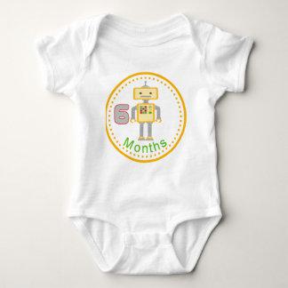 6 Month Baby Shirt Yellow Robot