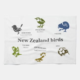 6 New Zealand birds Kitchen Towel