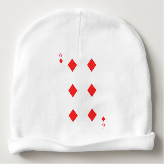 6 of Diamonds Baby Beanie