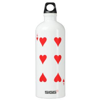 6 of Hearts Water Bottle