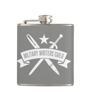 6 oz. flask, vinyl-wrapped, Haze Gray Hip Flask