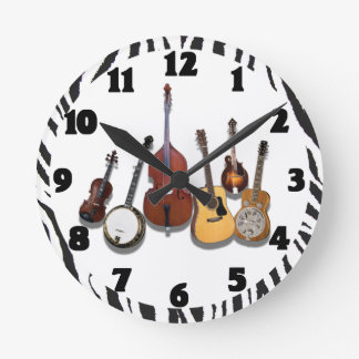 6-PIECE BAND-CLOCK ROUND CLOCK