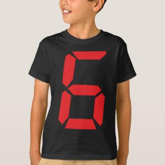 6 six red alarm clock digital number T-Shirt