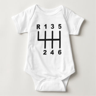6 Speed Shift Gate Baby Bodysuit
