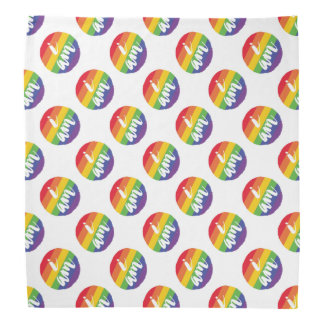 6 Stripes Rainbow Gay Pride Flag Sticker Bandana