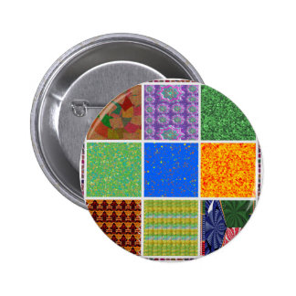 6 TEMPLATE Colored easy to ADD TEXT and IMAGE gift Pinback Buttons