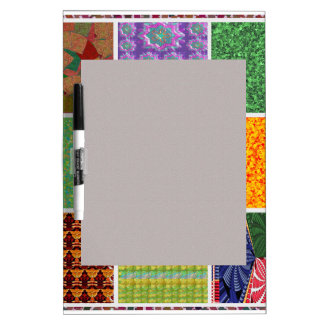 6 TEMPLATE Colored easy to ADD TEXT and IMAGE gift Dry-Erase Whiteboards