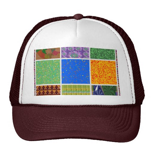 6 TEMPLATE Colored easy to ADD TEXT and IMAGE gift Mesh Hat