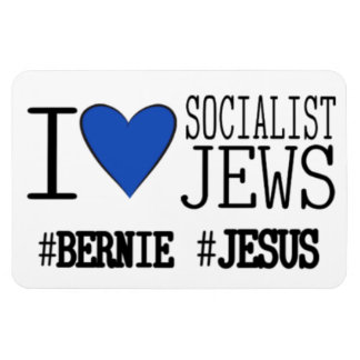 6 x 4 Car Magnet I Love Socialist Jews