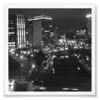 "6"" x 6"" Instagram Print: City at Night Photographic Print"