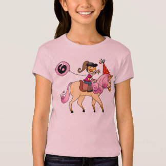 6 year old girl on a pony T-Shirt
