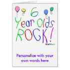 6 Year Olds Rock ! Card