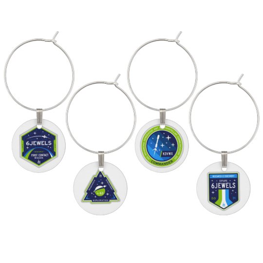 6Jewels Achievement Wine Charms (set of 4)