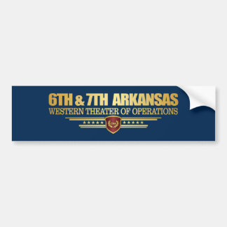 6th & 7th Arkansas Infantry (consolidated) Bumper Sticker