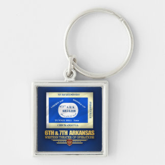6th & 7th Arkansas Infantry (consolidated) Keychain