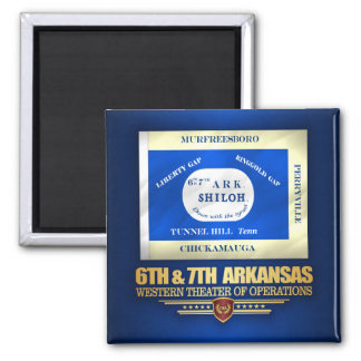 6th & 7th Arkansas Infantry (consolidated) Magnet