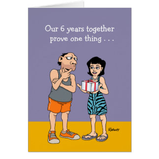 6th Anniversary Card: Love Greeting Card