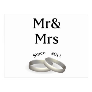 6th anniversary matching Mr. And Mrs. Since 2011 Postcard