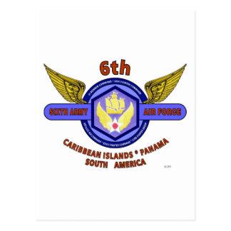"6TH ARMY AIR FORCE ""ARMY AIR CORPS"" WW II POSTCARD"