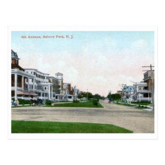 6th Ave., Asbury Park NJ Vintage Postcard