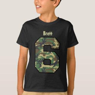 6th Birthday Boy Camo Four Year Custom Name V007F4 T-Shirt