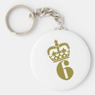 6th Birthday - Number – Six Keychain