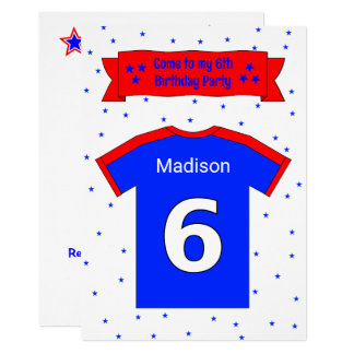 6th birthday personalized party invitation