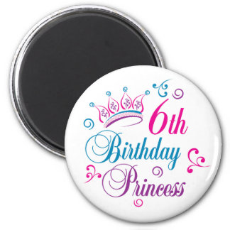6th Birthday Princess Magnet