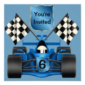 6th BIRTHDAY Race Car Invitation